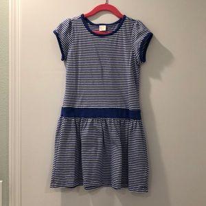 Gymboree cotton dress - blue stripe